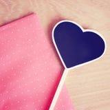 Tableau noir en forme de coeur avec l'espace de copie Photo stock