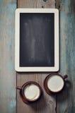 Tableau noir et café vue Image libre de droits