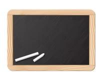Tableau noir et craie Images stock