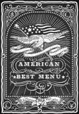 Tableau noir graphique de vintage pour le menu américain Photo libre de droits