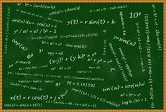 Tableau noir mathématique Photos stock