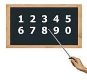 Tableau noir pour l'apprentissage de numéro. Photographie stock libre de droits
