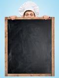 Tableau noir pour le menu Photos libres de droits