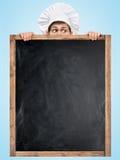 Tableau noir pour le menu Image stock