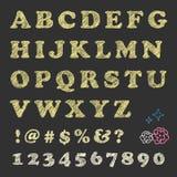 Tableau noir rayant des lettres Photo libre de droits