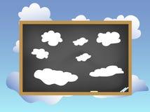 Tableau noir sur le ciel Photo libre de droits