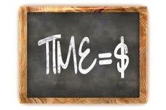 Tableau noir Time=Money Images libres de droits