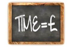 Tableau noir Time=Money Photographie stock