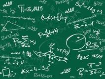 Tableau noir vert d'école de maths Photos stock