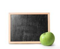 Tableau noir vide en bois Photos libres de droits