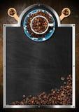 Tableau noir vide pour un café Image libre de droits