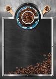 Tableau noir vide pour un café Image stock
