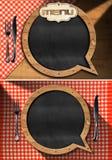 Tableau noir vide pour un menu de restaurant Image stock