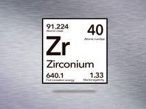 Tableau périodique de Zr de zirconium photos libres de droits