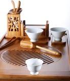 Tableau pour la cérémonie de thé Photos stock
