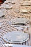 Tableau pour le banquet Photo stock
