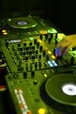 Tableau pour le DJ Photo libre de droits