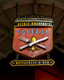 Tableau Restaueant Sign in the French Quarter New Orleans Stock Image