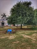 Tableau sous un arbre Photo libre de droits