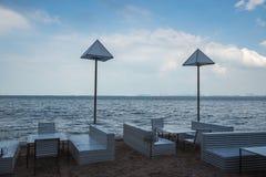 Tableau sur la plage Photographie stock