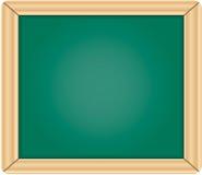 Tableau/tableau noir verts blanc avec le franc en bois Image libre de droits