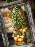 Tableau. Vegetables in frame Royalty Free Stock Photography