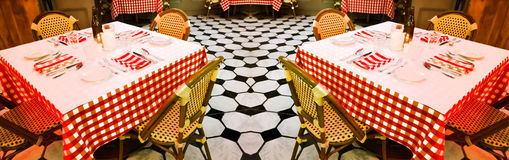 Tableaux dans un restaurant Photo stock