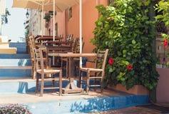 Tableaux de la taverne grecque photographie stock