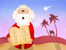 Tableaux des Dix commandements Images libres de droits