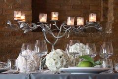 Tableaux mis pour épouser des célébrations Photographie stock libre de droits