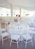 Tableaux mis pour une réception de partie ou de mariage d'événement Photos libres de droits