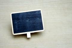 Tableaux noirs vides de rectangle dans les cadres en bois photo libre de droits