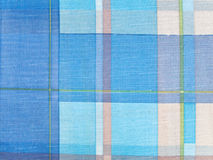 Tablecloth. Photo of the blue squared tablecloth background Royalty Free Stock Photography