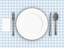 Tablecloth. A render of a table setting over a tablecloth Royalty Free Stock Images