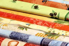 Tablecloth. On a market in france in provence Royalty Free Stock Photos
