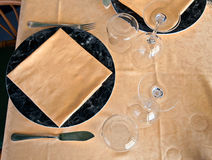 Tablecloth from above Stock Image