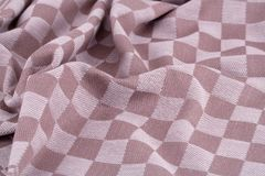Tablecloth background. Checkered tablecloth texture as a background, closeup picture Stock Photography