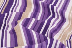 Tablecloth background. Striped tablecloth texture as a background, closeup picture Stock Photography