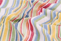Tablecloth background. Striped tablecloth texture as a background, closeup picture Royalty Free Stock Photography