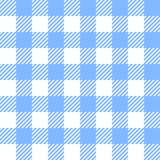 Tablecloth in blue with Checkered design Stock Photos