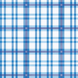 Tablecloth with blue pattern Stock Image