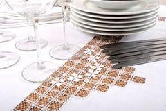 Tablecloth bordado Foto de Stock