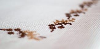 Tablecloth bordado Imagem de Stock Royalty Free