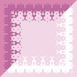 Tablecloth border pattern Stock Images