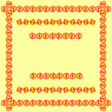 Tablecloth border pattern Royalty Free Stock Image