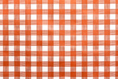 Tablecloth. Brown and white checked fabric tablecloth,background Stock Photography