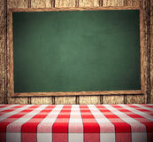 Tablecloth on Chalkboard Royalty Free Stock Photo