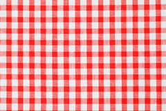 Tablecloth Checkered Foto de Stock Royalty Free