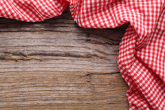 Tablecloth Checkered Fotografia de Stock Royalty Free