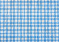 Tablecloth checkered blue and white texture background Stock Image